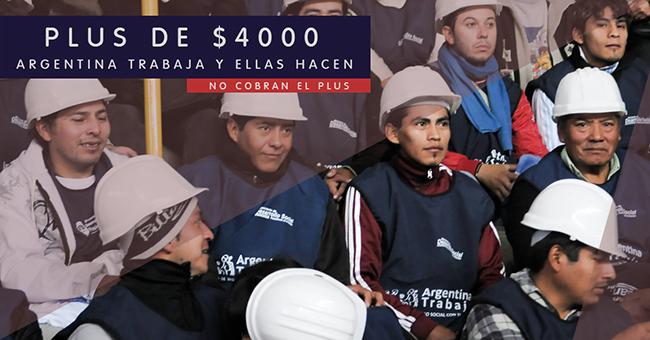 Confirmado! Argentina Trabaja y Ellas Hacen no cobran el Plus de $4000