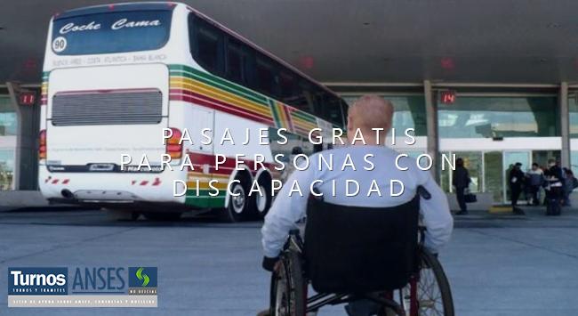 Como reservar Pasajes GRATIS para personas con Discapacidad