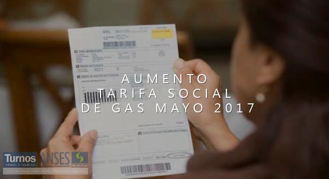 Aumento Tarifa social de GAS de forma y Pago Automático