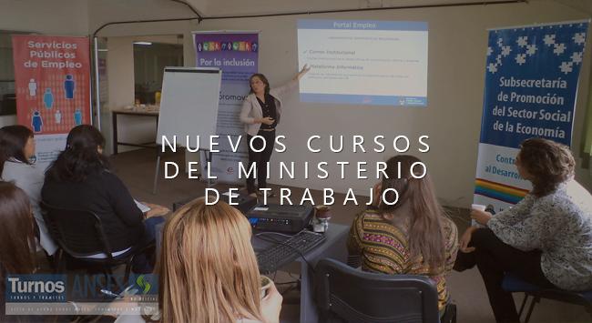 Nuevos cursos del Ministerio de Trabajo