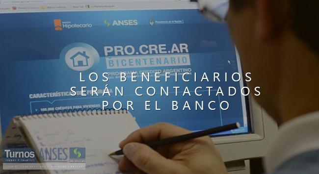 Sorteo Procrear: Los Beneficiarios serán contactados por el Banco