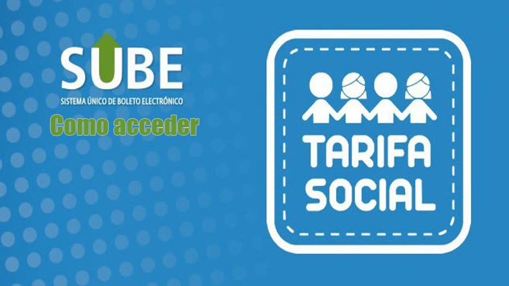 Tarifa social SUBE